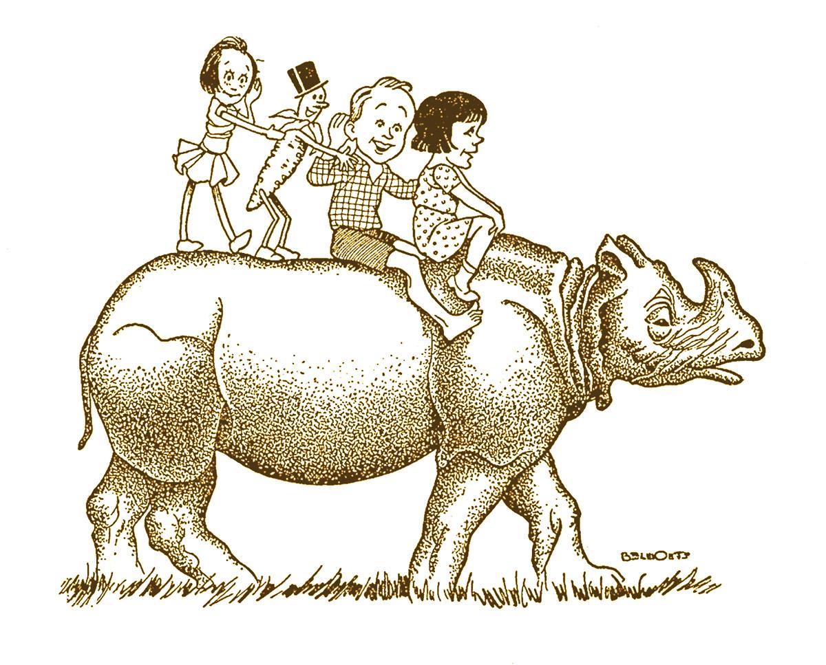 Criado por Monteiro Lobato, o rinoceronte Quindim empresta o nome para a biblioteca de Caxias do Sul