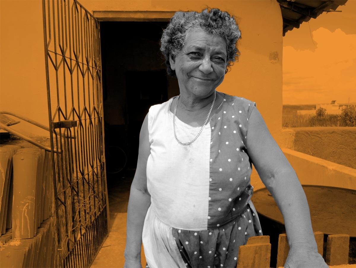 A agricultora aposentada Maria Pereira Mota, que é diabética, e ficou sem atendimento em Tamboril, no Ceará