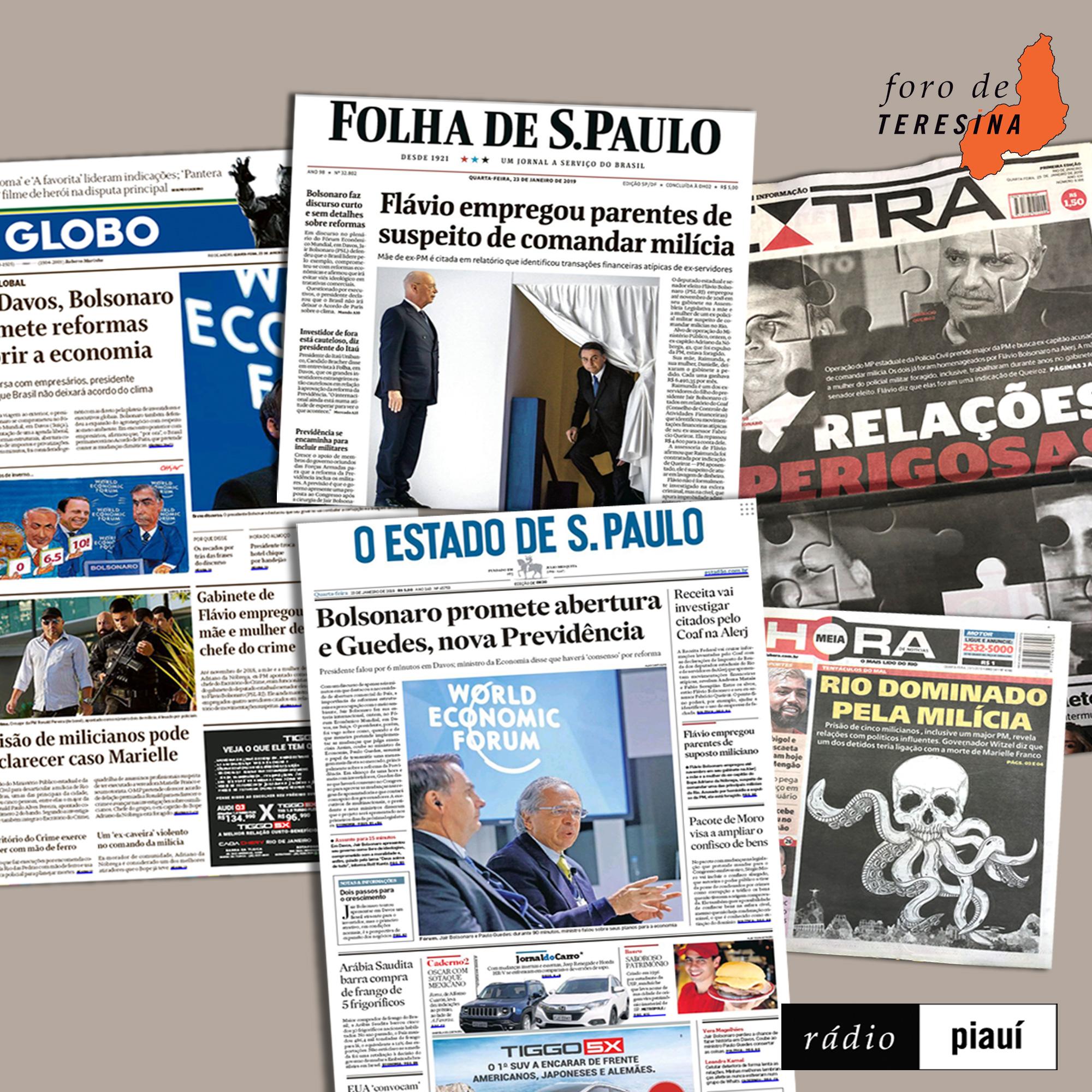 #36: Os Bolsonaro e as milícias, o presidente em Davos e a milicolândia