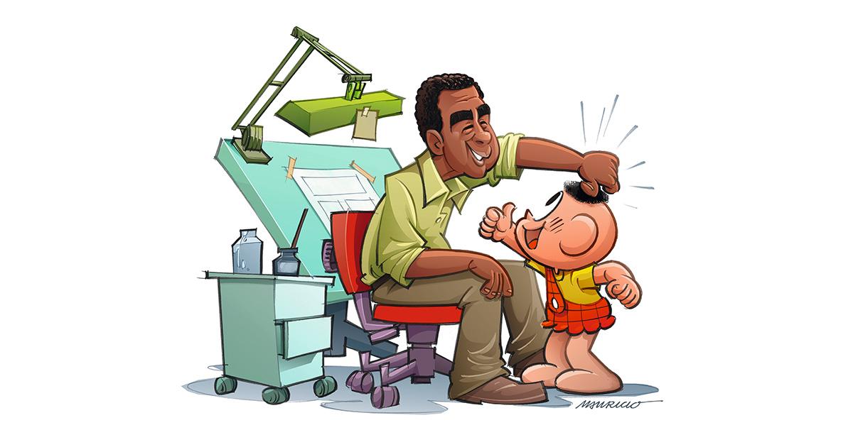 O cabeleireiro do Cascão