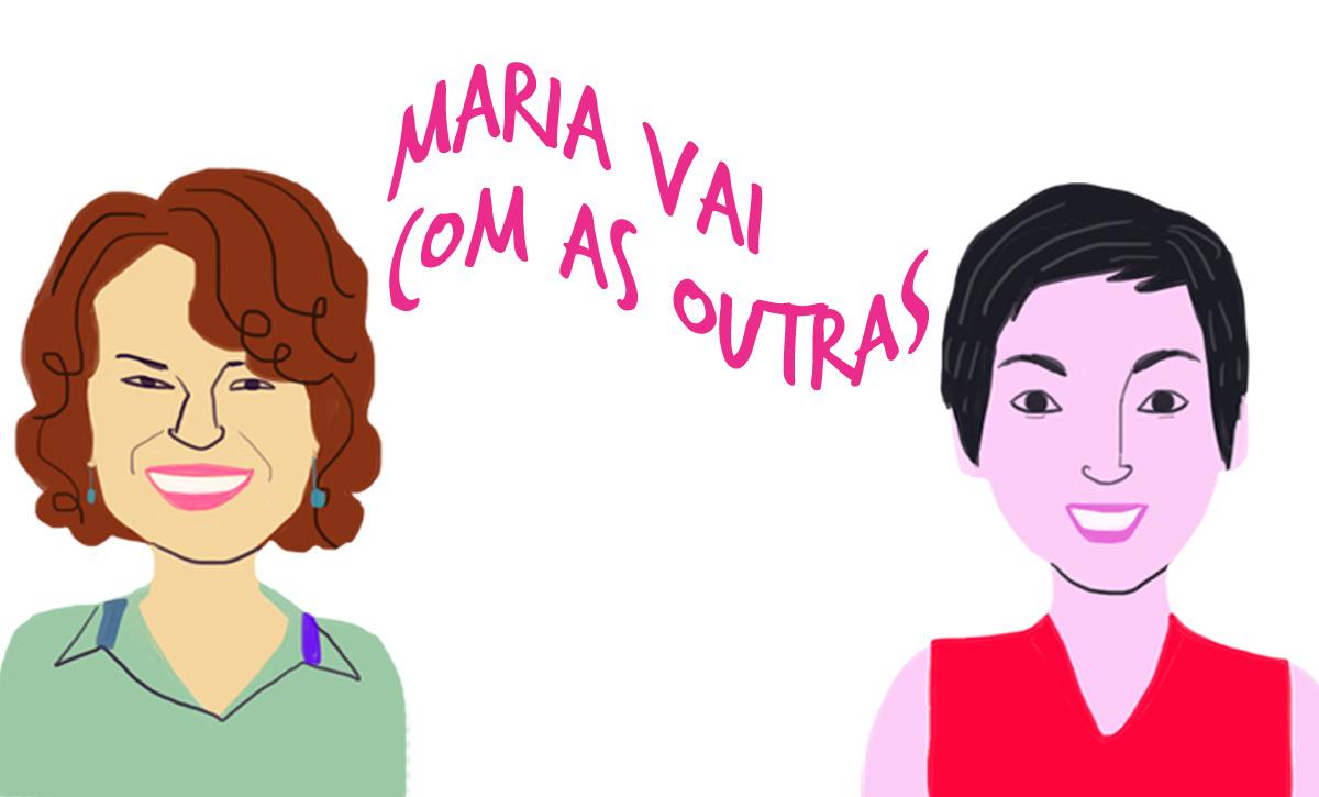 As convidadas Nádya e Piti, pelo traço do ilustrador Caio Borges
