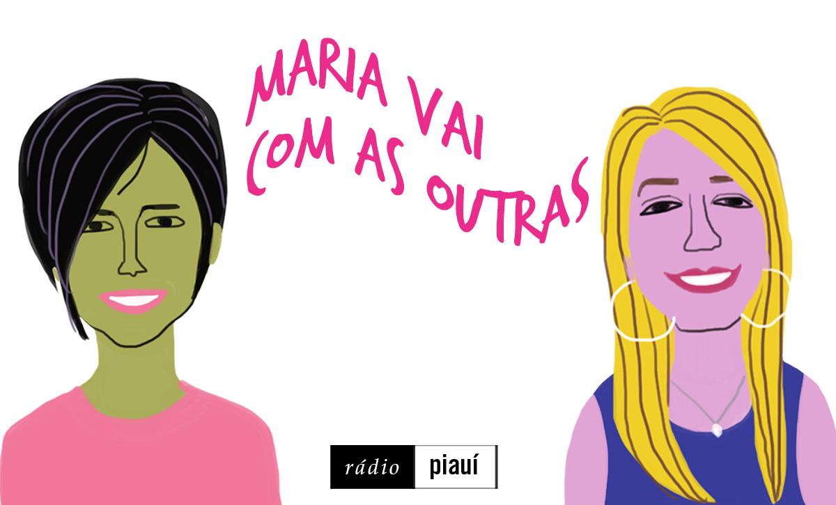 As convidadas Ana e Eliza, pelo traço do ilustrador Caio Borges