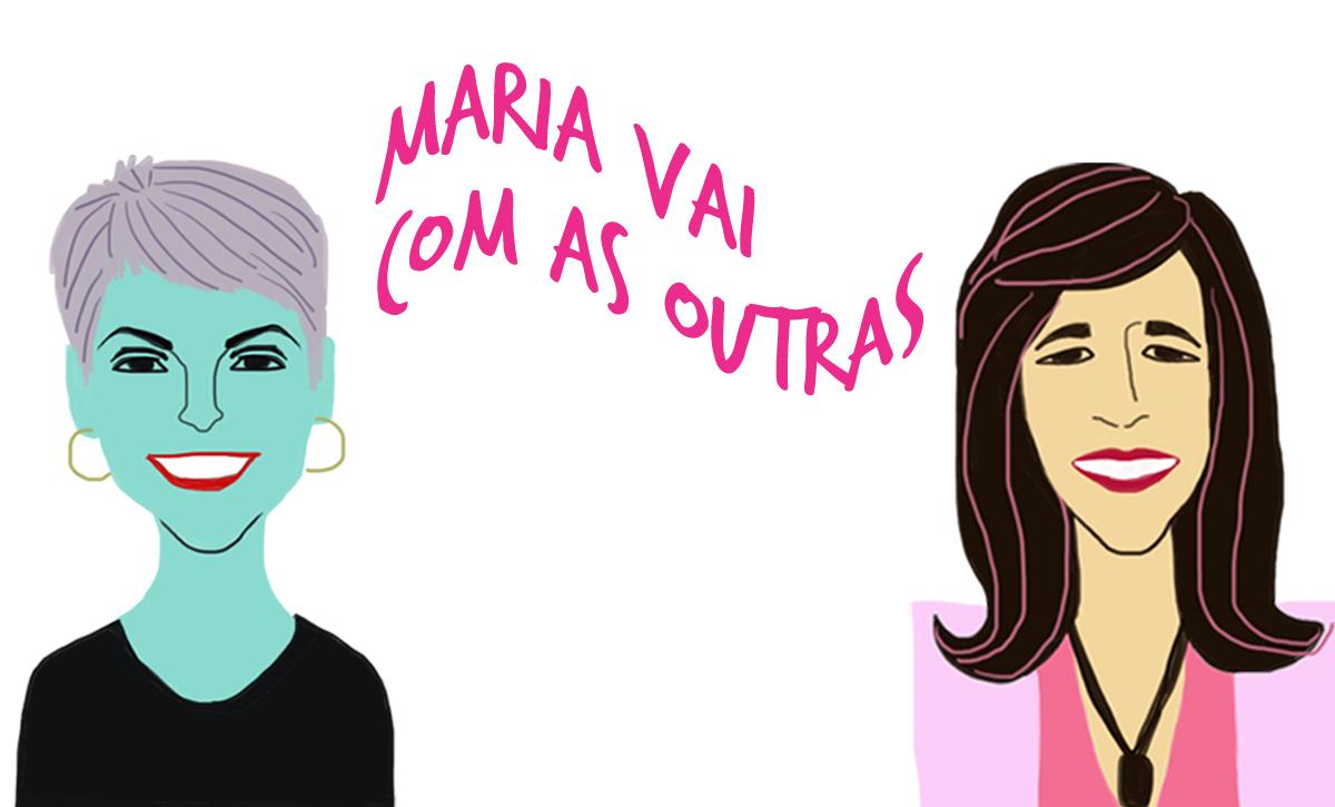 As convidadas Heloisa e Marcia Barbosa, pelo traço do ilustrador Caio Borges