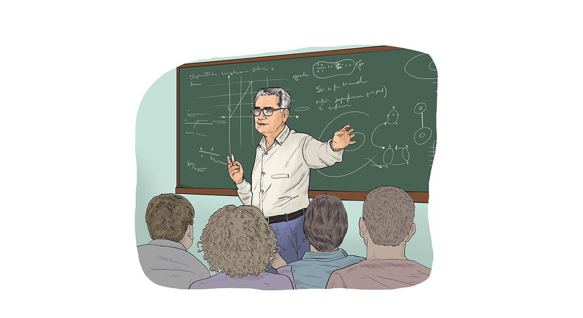 """A longevidade intelectual de Mauricio Peixoto foi espantosa. Produziu matemática e escreveu artigos até os 93 anos. """"Trabalhava duro, muitas vezes varando a madrugada"""", disse sua mulher"""