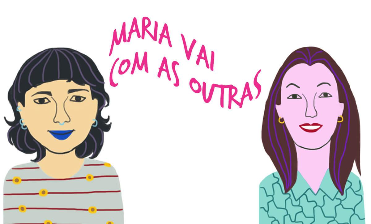 As convidadas Gabriela e Ivanira, pelo traço do ilustrador Caio Borges