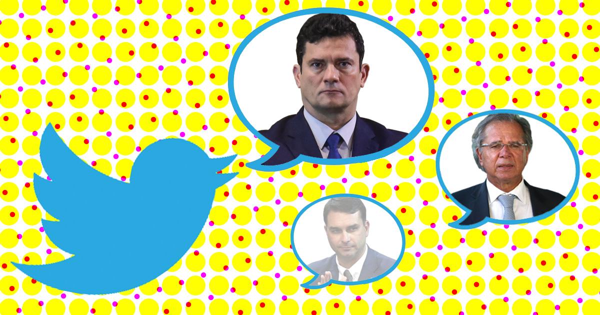Moro cresce e irmãos Bolsonaro caem em citações no Twitter