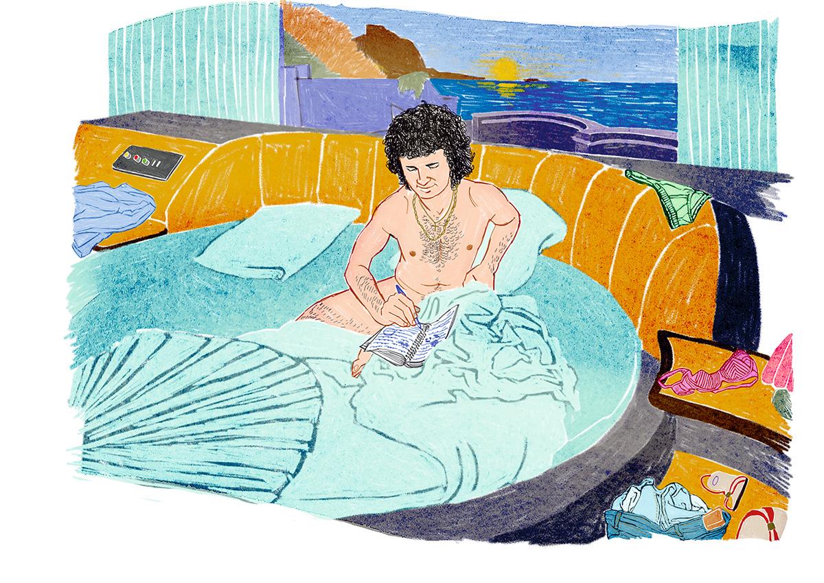 O Vip's tinha no Rei o seu trovador. Era o mundo dos lençóis macios, travesseiros soltos e roupas pelo chão