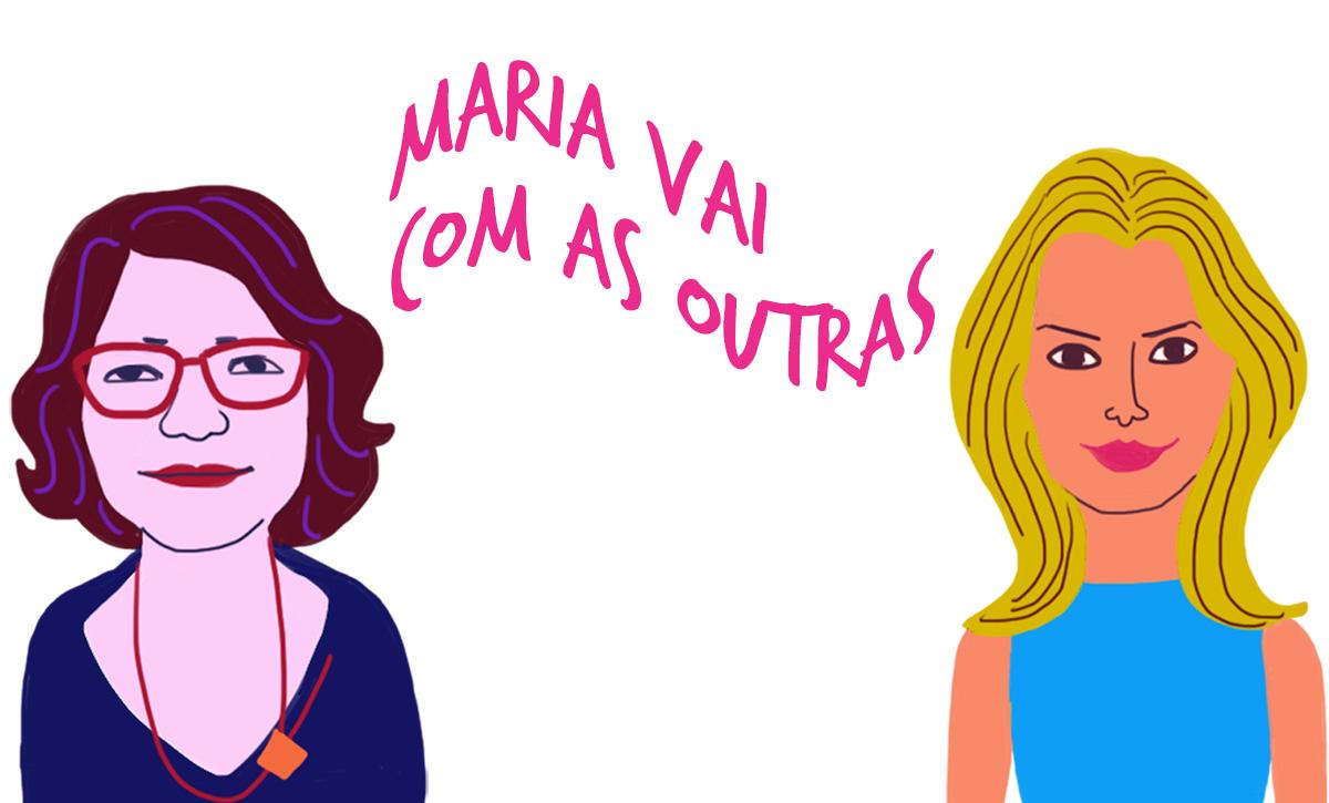 As convidadas Márcia Lucena e Cristiana Bento, pelo traço do ilustrador Caio Borges