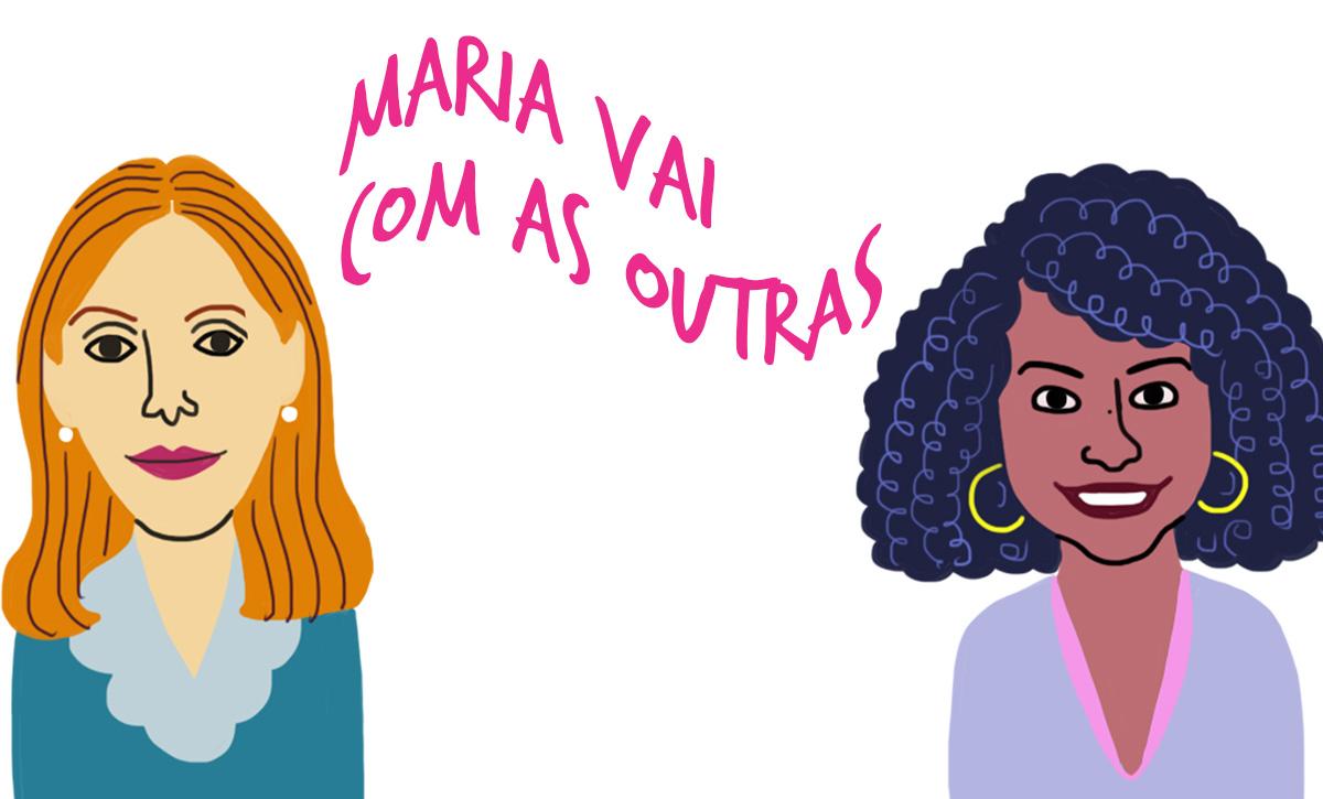 As convidadas Eugenia Fayad e Juliana Oliveira, pelo traço do ilustrador Caio Borges