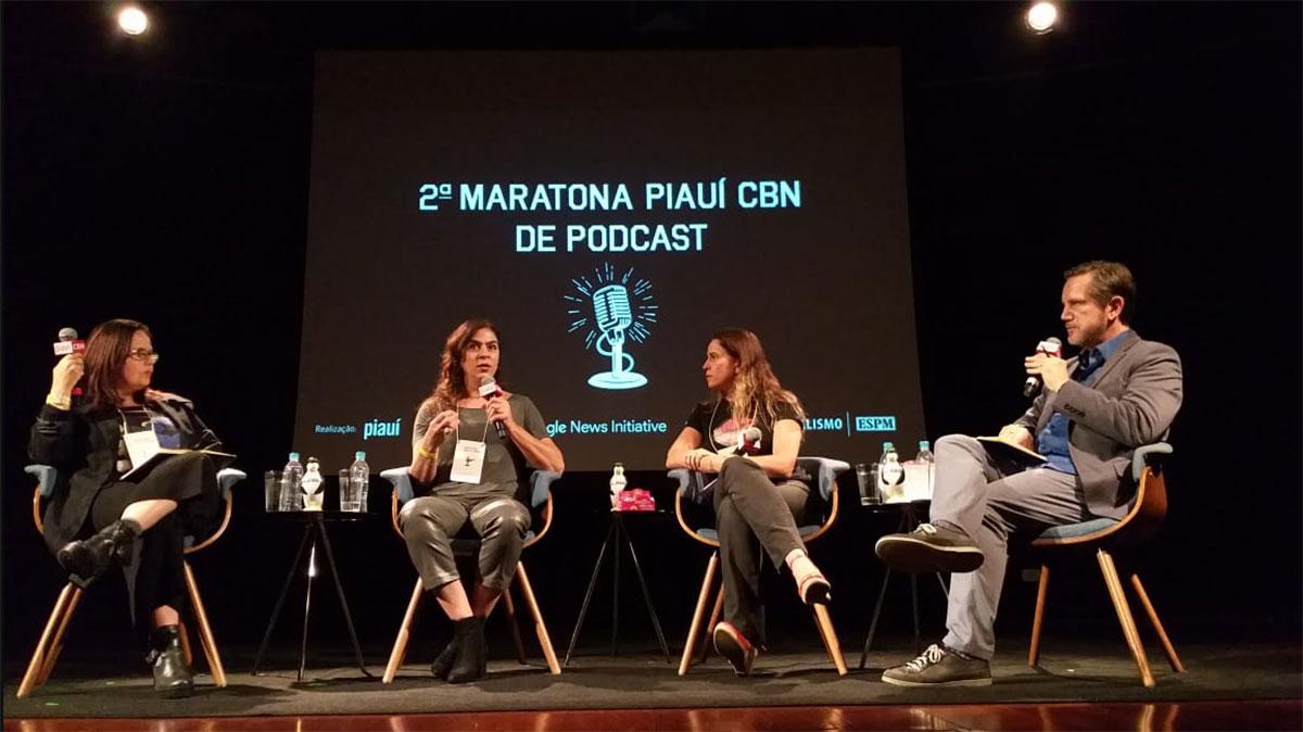 Adriana Salles Gomes, Ana Paula Wehba e Fernanda de Paula com o mediador Milton Jung