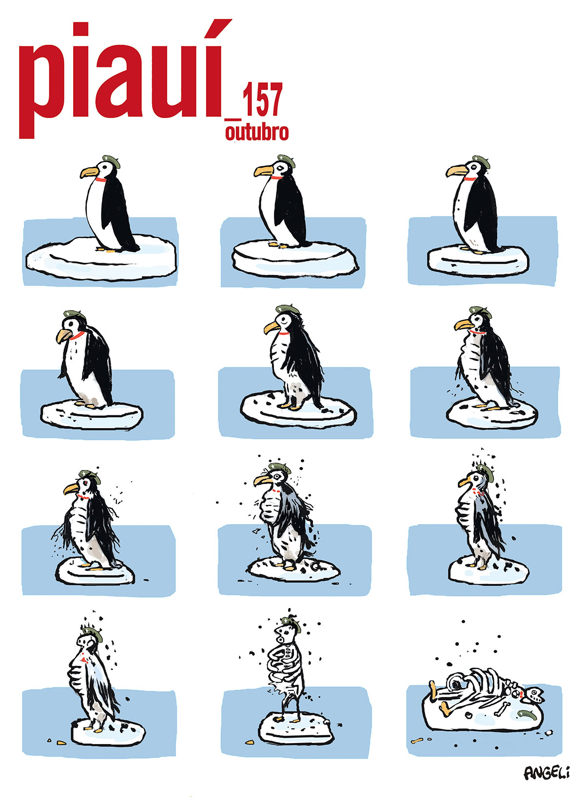 O pinguim sucumbe aos novos tempos