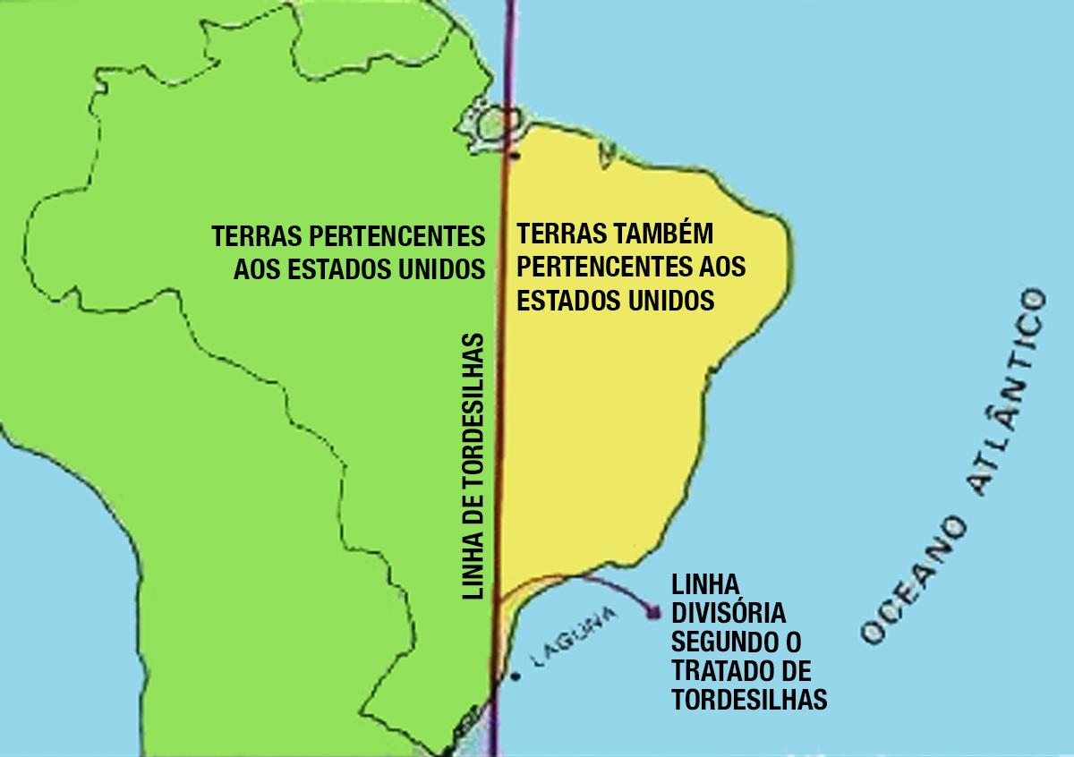 """""""O establishment quer ver Bolsonaro repetindo o Tratado de Tordesilhas, mas o que vejo é o povo querendo um novo Tratado de Tordesilhas e ai de Bolsonaro caso tente parar o povo!"""", tuitou o blogueiro e cosplayer de Bruno Covas, Allan dos Santos"""