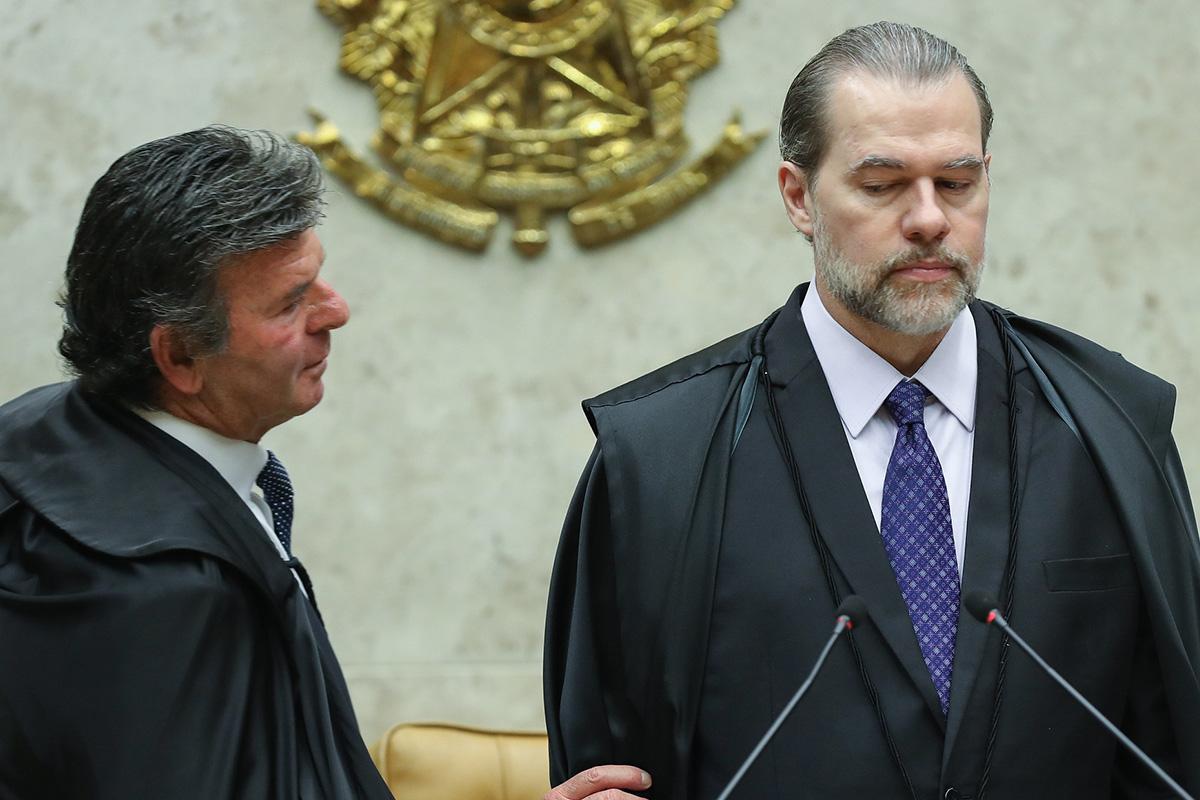 Fux e Toffoli, o próximo e o atual presidentes do Supremo –