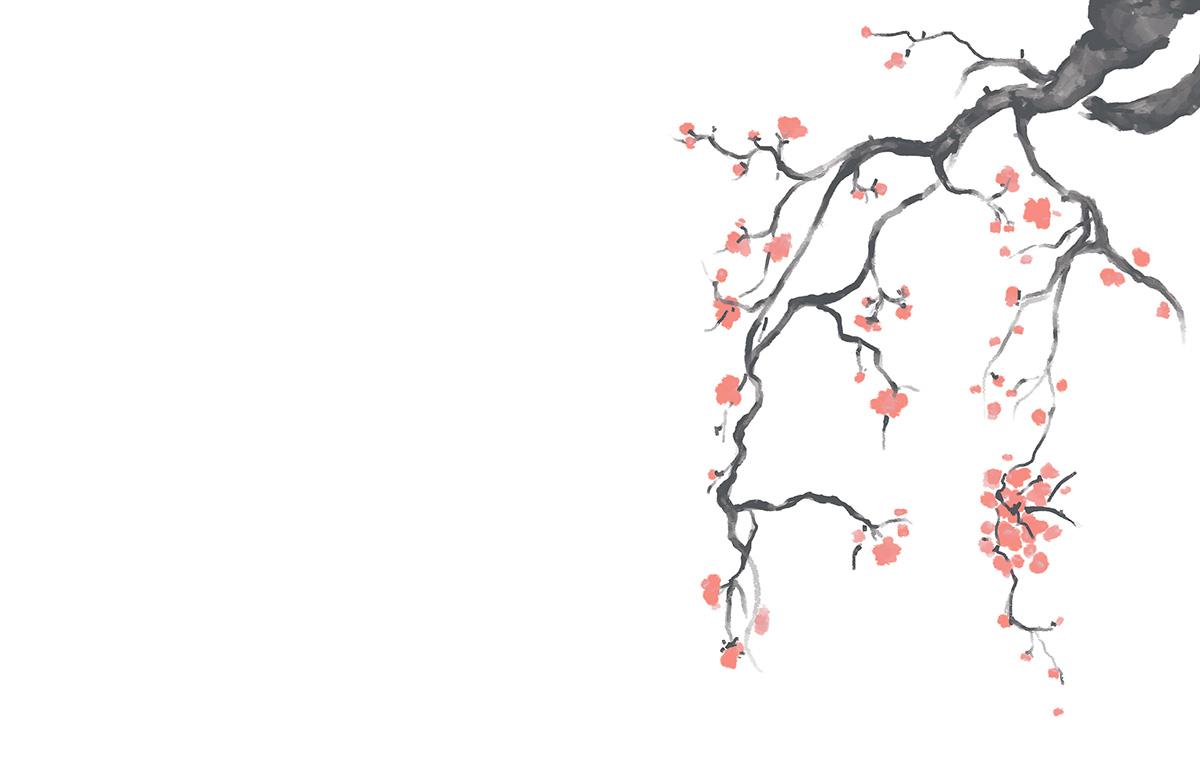 A cerejeira na calçada