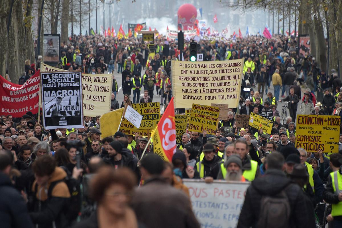 Manifestação desta terça nas ruas de Paris –