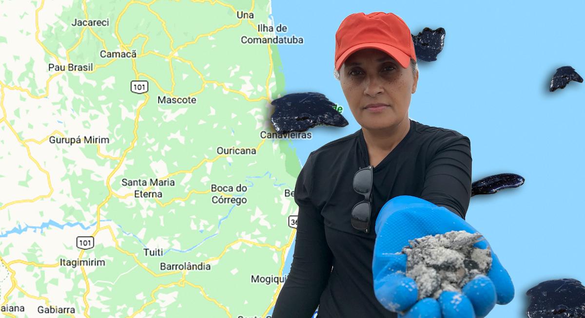 A catadora de óleo Mirian Ribeiro –
