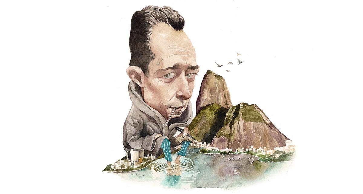 Camus, gripado no Rio: suas categorias mediterrâneas aplicadas ao Brasil seriam limitadoras, e cabe perguntar se a limitação não é um defeito mais do olhar do artista do que do lugar em si