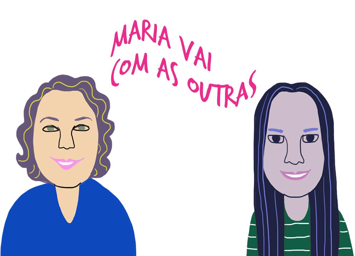 A pastora Silvia Nogueira e a Irmã Edinalva, pelo traço de Caio Borges