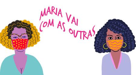 Maria de Lourdes e Juliana, pelo traço do ilustrador Caio Borges
