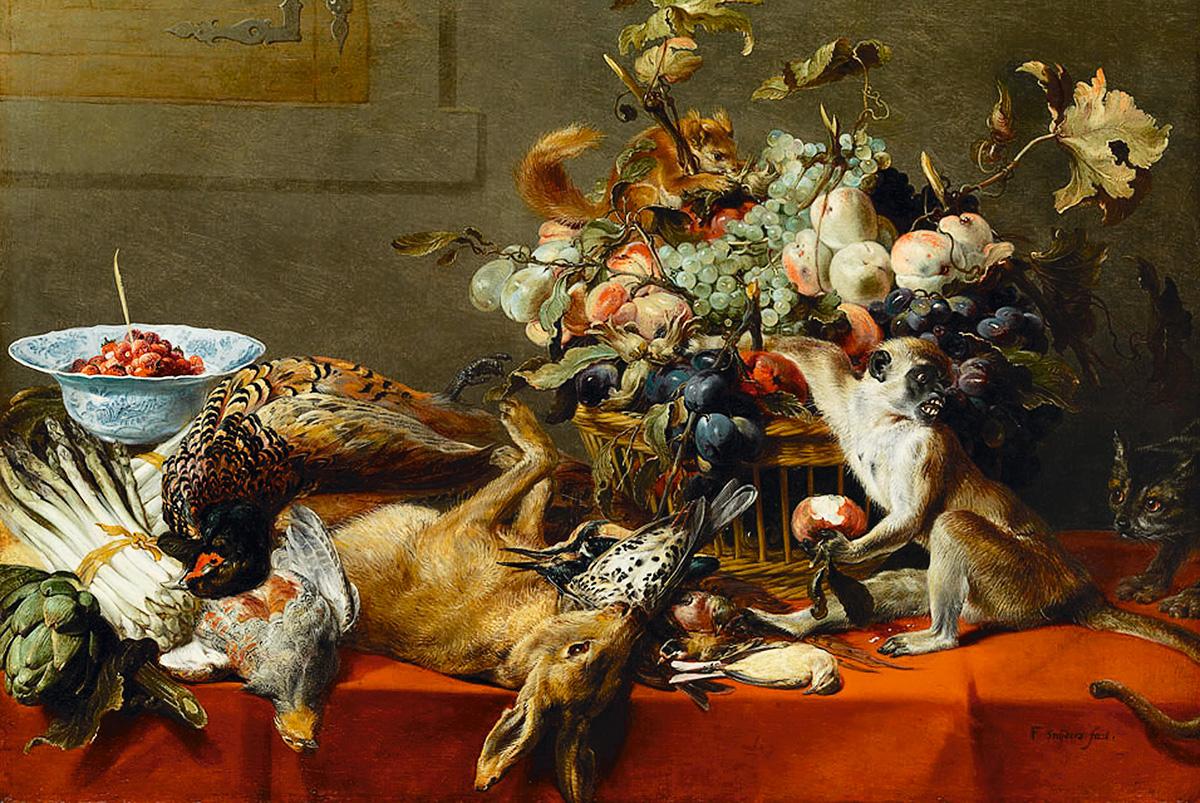 Frans Snyders [1579-1657] e sua inovadora natureza-morta com animais: granjas que produzem as coxas de frango e as picanhas do churrasco são focos de vírus com mutações antigênicas