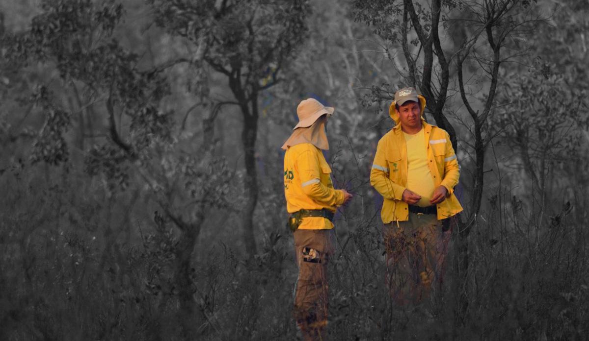 Welington Fernando durante operação de combate ao fogo –