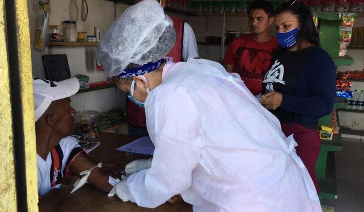 Pesquisa domiciliar com aplicação de teste sorológico no Maranhão / Foto: Reprodução