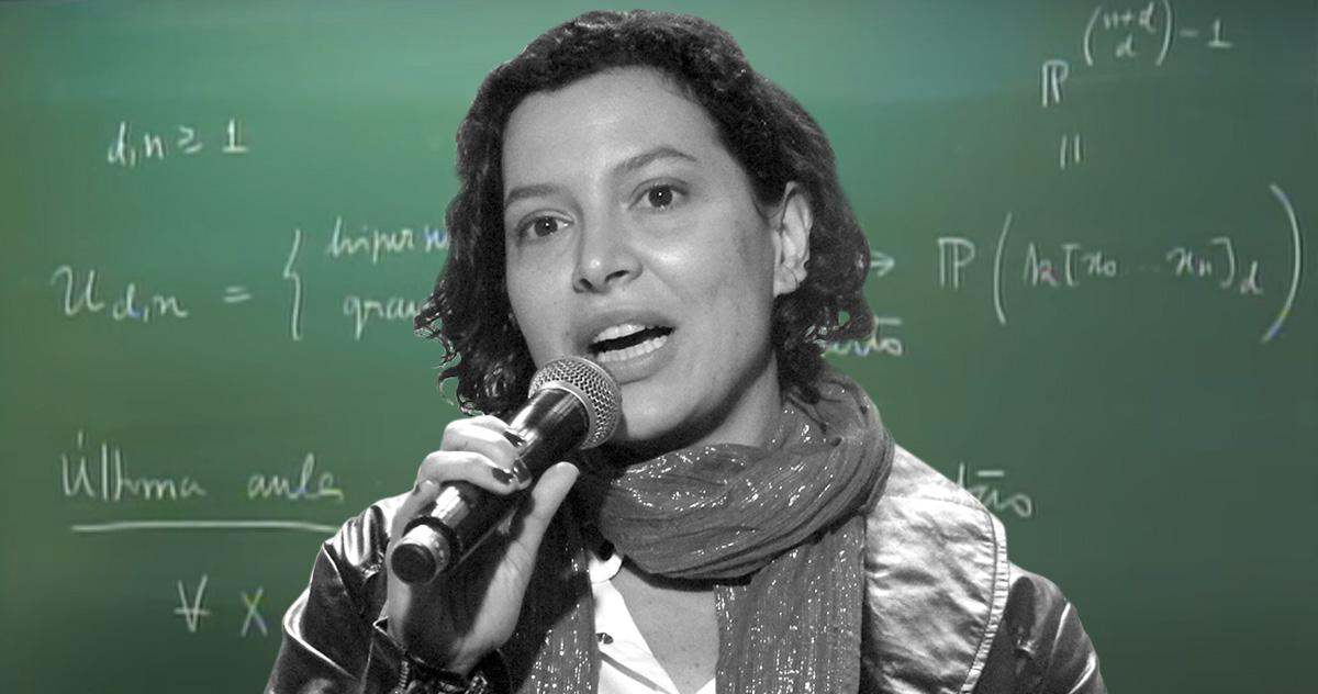 Carolina Araujo, vencedora do prêmio Ramanujan –