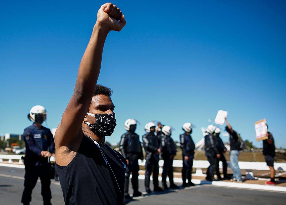 Protesto contra mortes de pessoas negras –