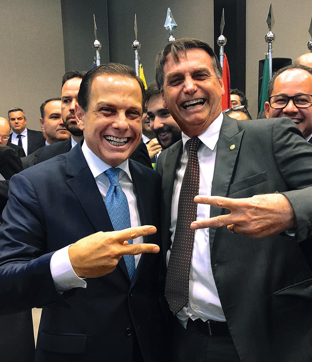 João Doria e Jair Bolsonaro, logo depois da eleição de 2018: o Instituto Butantan apresentou três propostas de venda da CoronaVac para o governo, que nunca se interessou