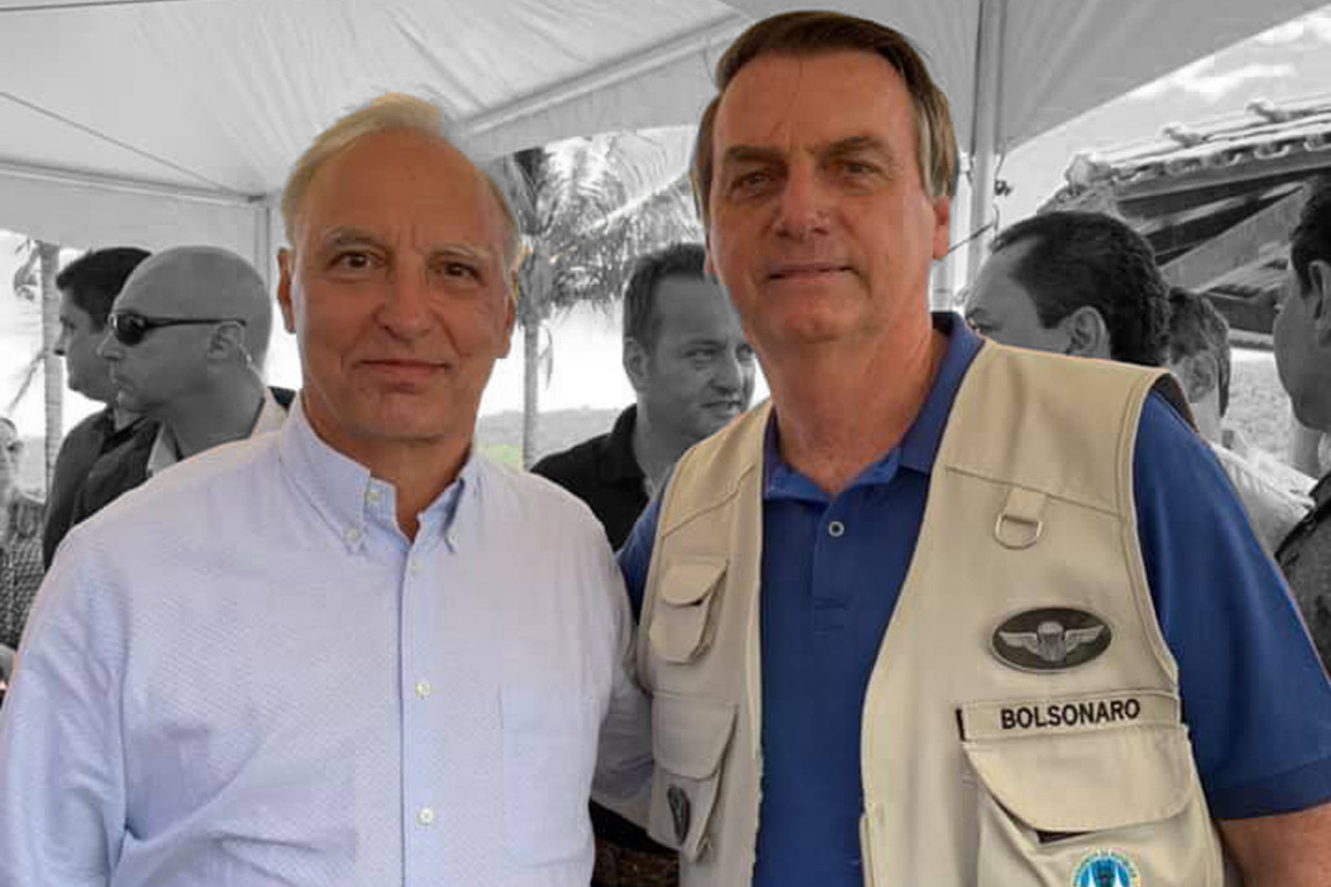 Luis Felipe Belmonte, vice-presidente da Aliança pelo Brasil, e Jair Bolsonaro –