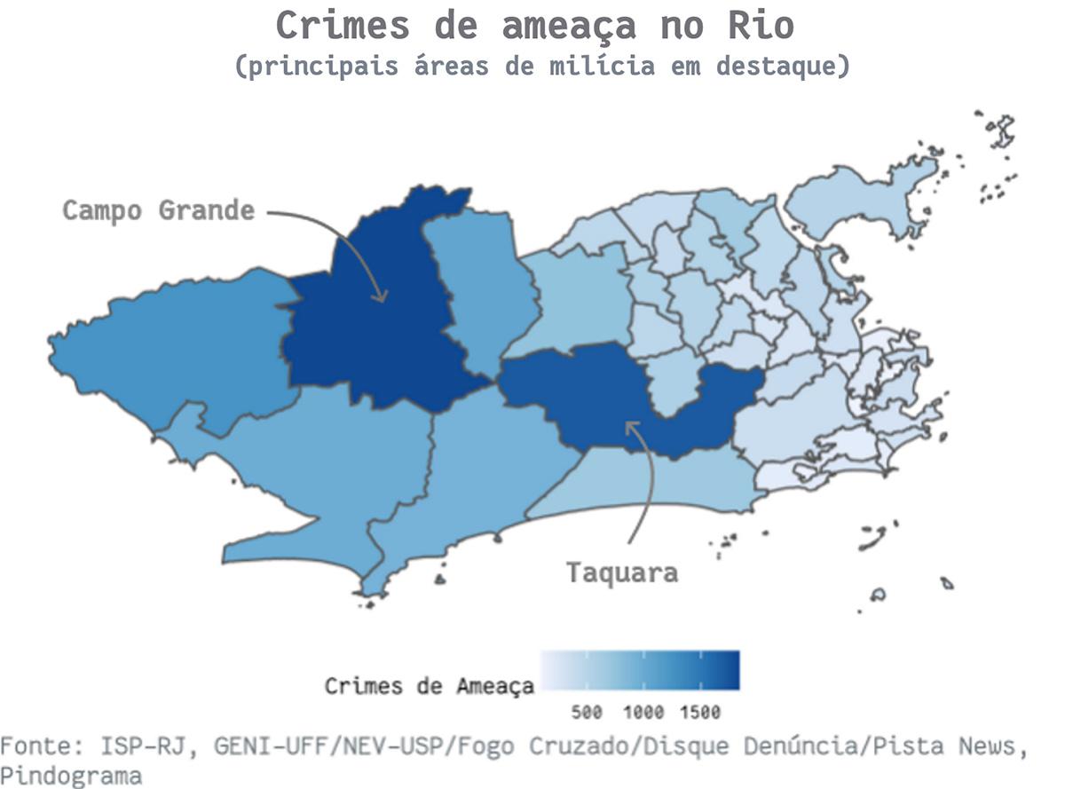 mapa2 pindograma Segurança pública no Rio de Janeiro: cada crime no seu quadrado