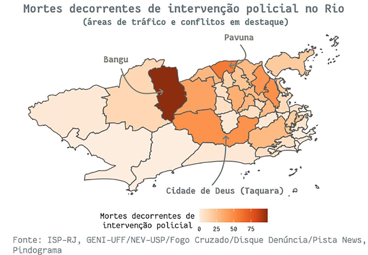 mapa5 pindograma Segurança pública no Rio de Janeiro: cada crime no seu quadrado