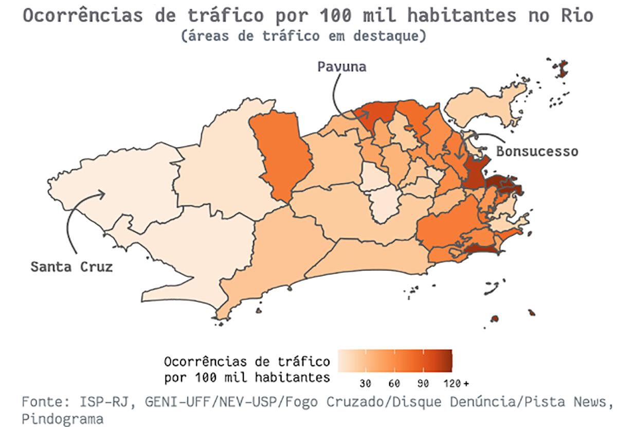 mapa9 pindograma Segurança pública no Rio de Janeiro: cada crime no seu quadrado