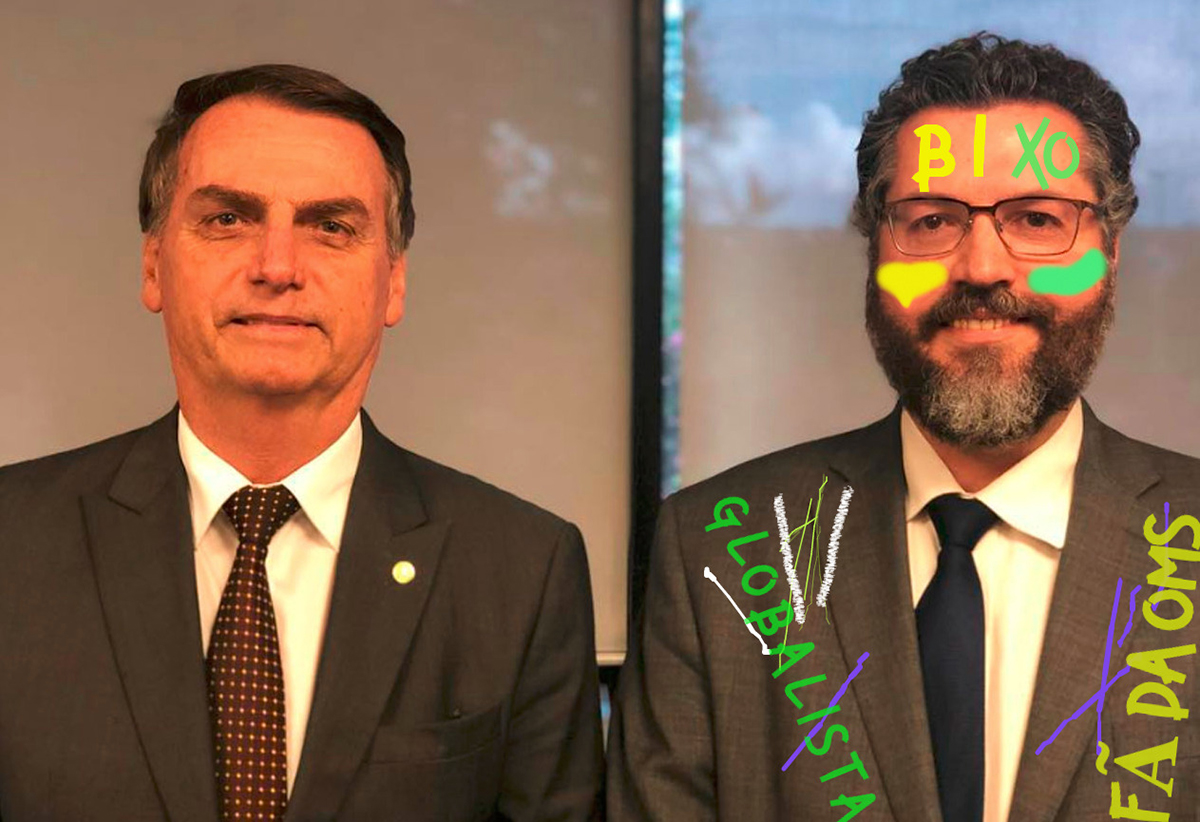 Como parte do trote, Ernesto Araújo terá de dançar coladinho com o embaixador da China
