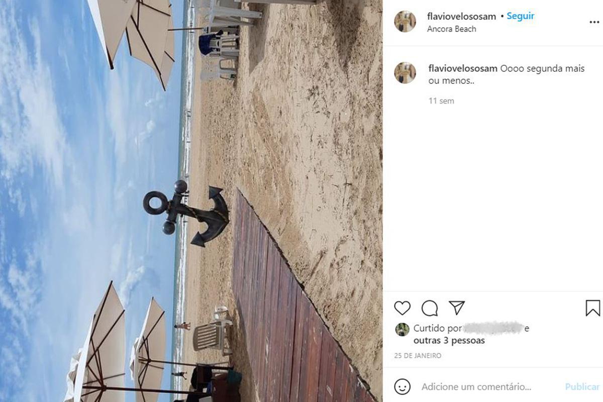 Uma das fotos publicadas pelo sargento Veloso no Instagram