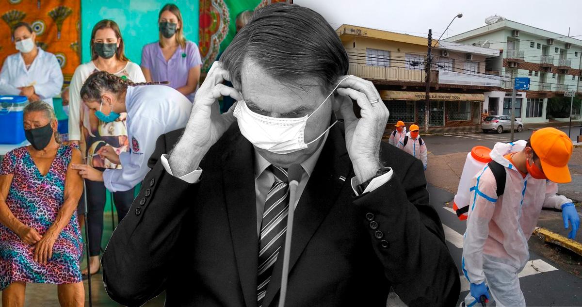 Bolsonaros cumprem quarentena