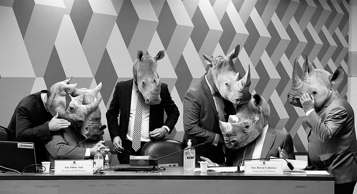 Cabeças de rinoceronte na CPI da Pandemia: há uma dose de encenação no empenho para descobrir uma verdade que todos já conhecem