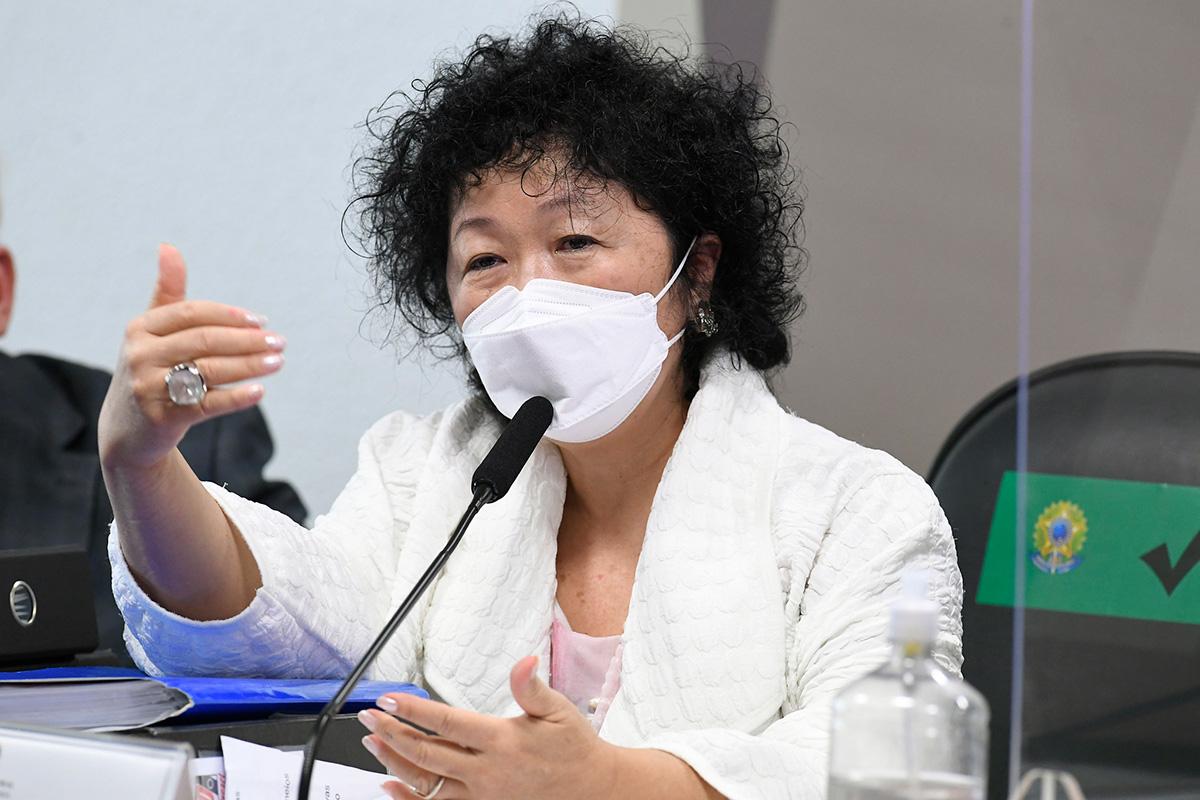 A médica Nise Hitomi Yamaguchi depôs na CPI da Covid nesta terça-feira –
