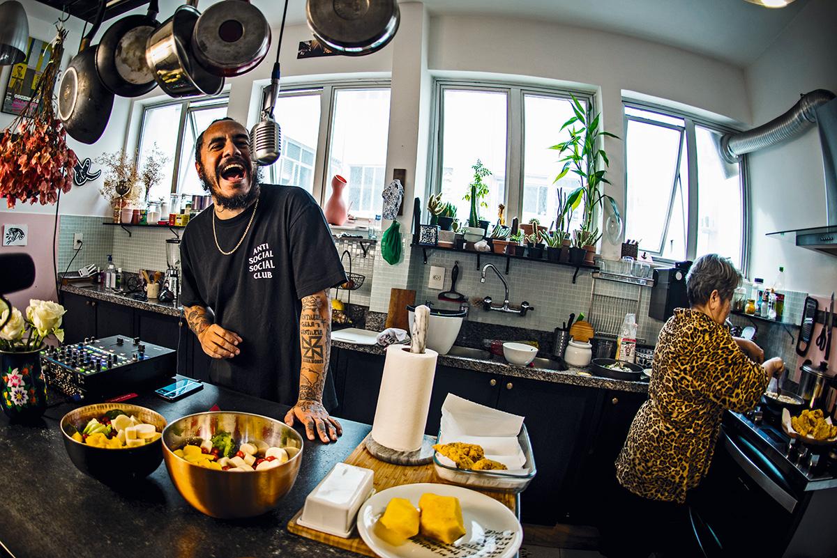 O rapper e a polenta