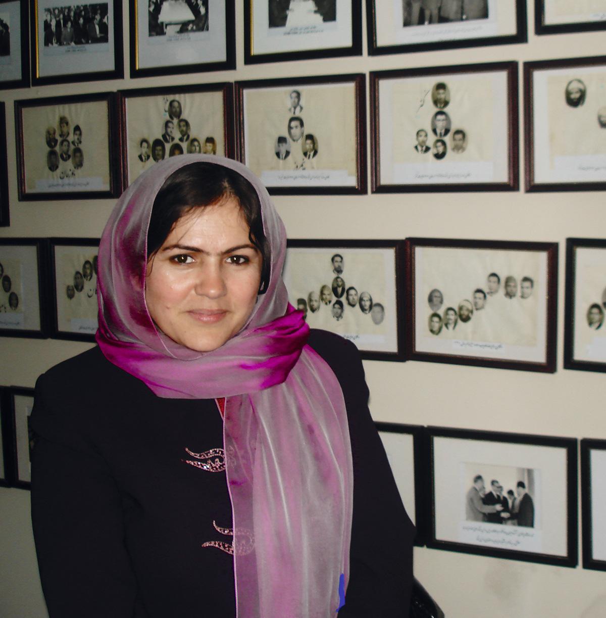 Fauzia Kofi, em 2008: primeira mulher a ocupar a vice-presidência do Parlamento afegão