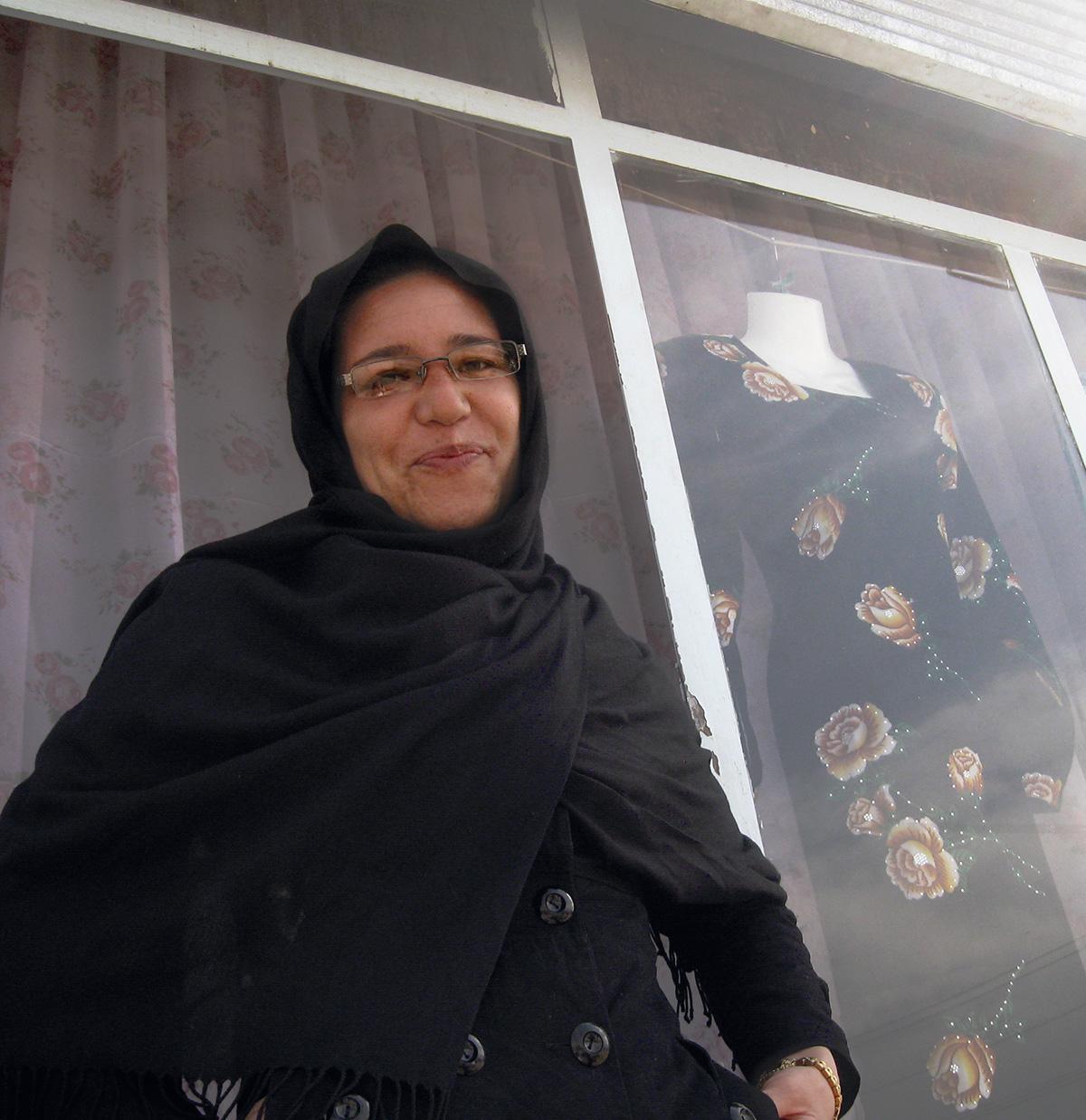 Fatima Ehsami, em 2011: a corajosa estilista que abriu sua própria loja em Cabul