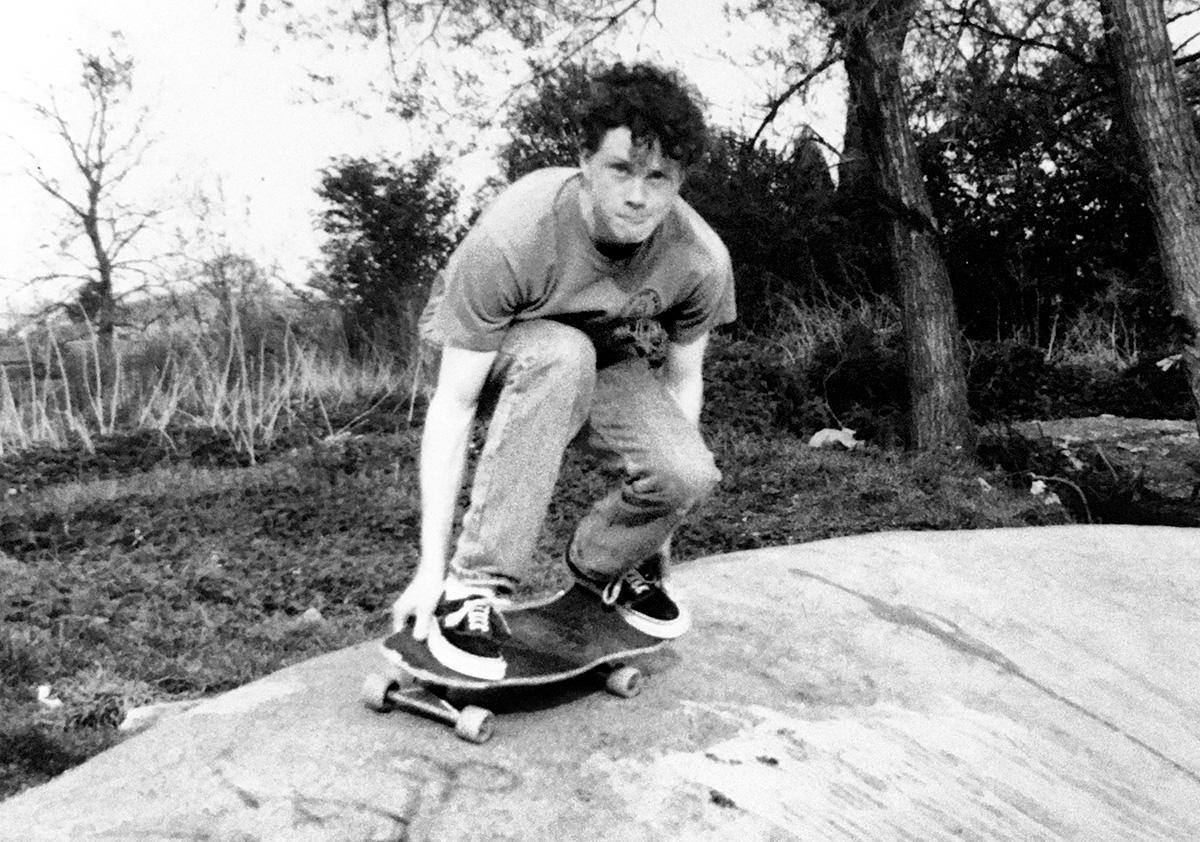 O autor, em 1987, em Oxfordshire: as crianças da Maré tiveram a chance de conhecer Sky Brown, já então um fenômeno mundial do skate, e Rayssa Leal, a Fadinha, que levaria prata em Tóquio